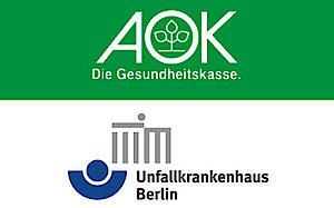Logos of AOK and ukb