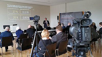 Bild aus der Pressekonferenz