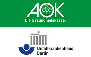 Logos of AOK and ukb