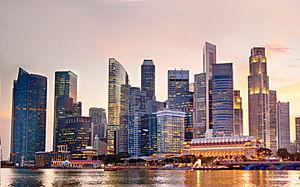 [] Skyline von Singapur